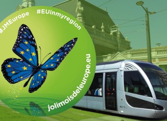 Des tramways aux couleurs du joli mois de l'Europe