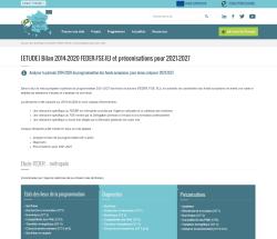 Miniature de la page [ETUDE] Bilan 2014-2020 FEDER-FSE-IEJ et préconisations pour 2021-2027