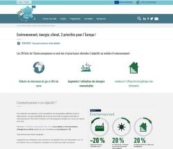 Aperçu de la page sur l'environnement, l'énergie, le climat, 3 priorités pour l'Europe