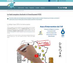 Aperçu de la page de présentation des fonds européens structurels d'investissement