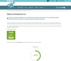 Aperçu de la page de présentation de la politique de développement rural
