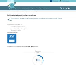Aperçu de la page de présentation de la politique de la pêche et des affaires maritimes