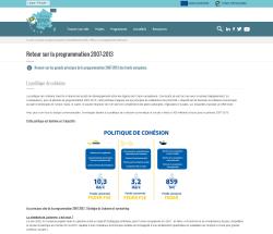 Aperçu de la page sur le retour sur la programmation 2007-2013
