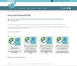 Aperçu de la page Tous les projets européens 2014-2020